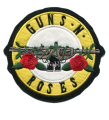 Vintage Style Guns and Roses Rock Patch 10cm