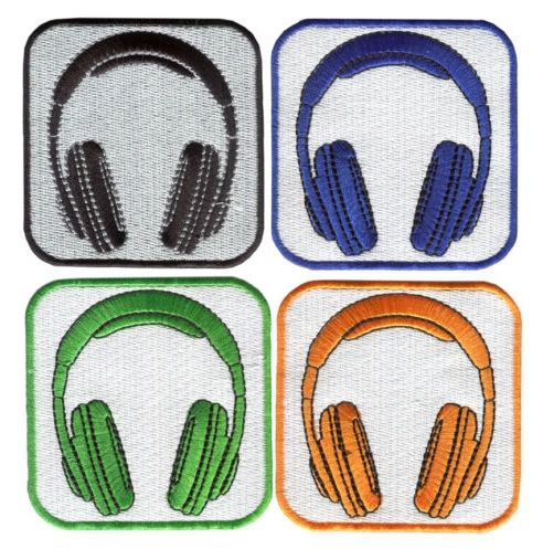 Headphones Patch Many Colors Available 8.5cm