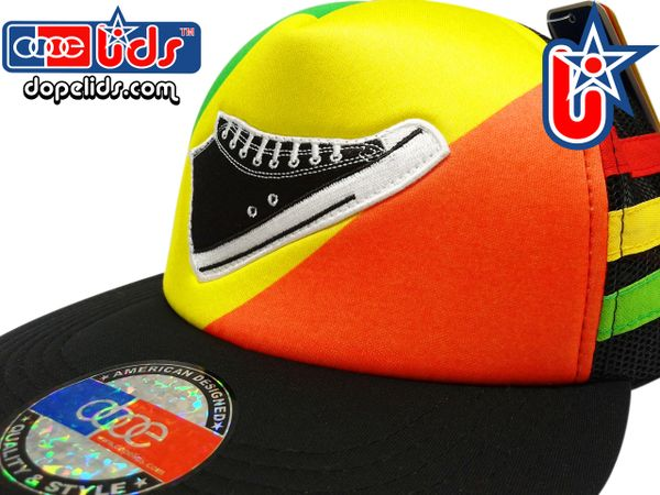 smARTpatches Truckers 89eighty Rasta Surfer Skater Trucker Hat
