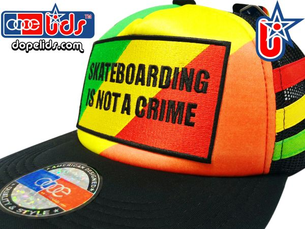 smARTpatches Truckers 89eighty Rasta Skater Trucker Hat