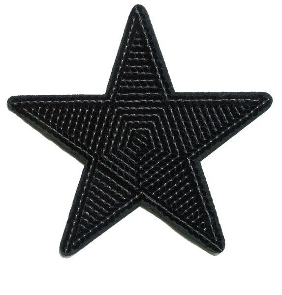 Star Patch Black Sequins (12cm)