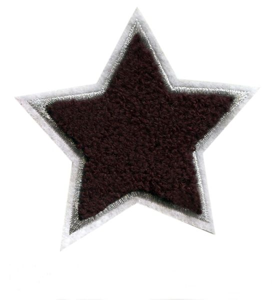 Black Star Chenille Patch (9cm)