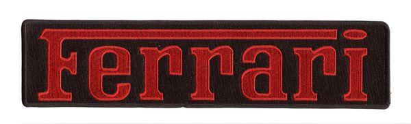 Ferrari XXL Script Patch Red on Black 25cm x 6cm