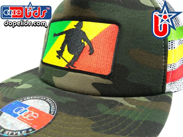 smARTpatches Truckers 89eighty Rasta Skater Camo Trucker Hat
