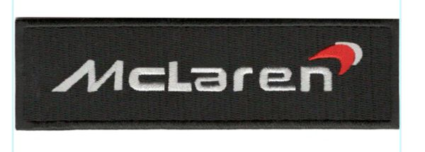 McLaren Patch Racing Car 13cm