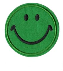 Green Smiley Face Patch Vintage Style Smile Patch Badge 9cm