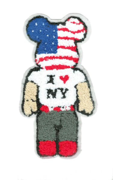I Love NY Chenille Patch Teddy Bear Mouse 19cm