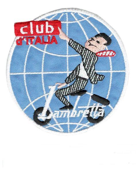 Vintage Style Lambretta Club d'Italia Patch 8cm