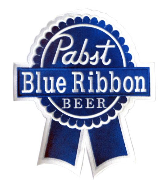 Pabst Blue Ribbon PBR Vintage Style Beer Patch XXL 30cm