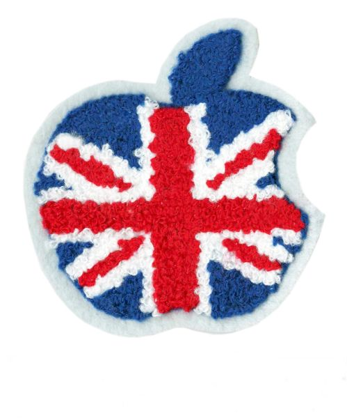 Union Jack Apple Patch Chenille 8cm