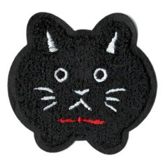 Black Cat Patch Chenille 8.5cm
