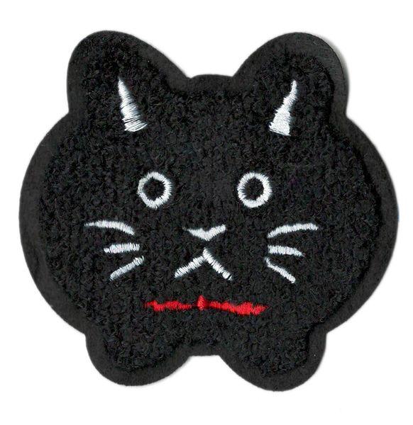 Black Cat Patch Chenille 8.5cm