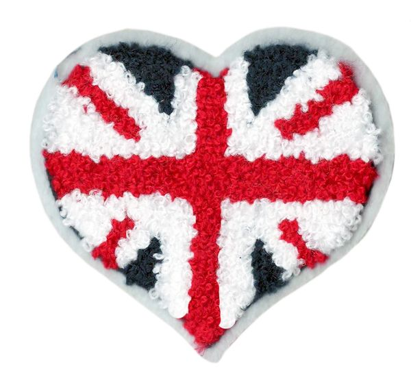 Union Jack Patch Heart 8.5cm