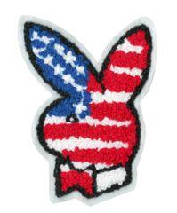 USA Bunny Rabbit Patch Chenille 10cm
