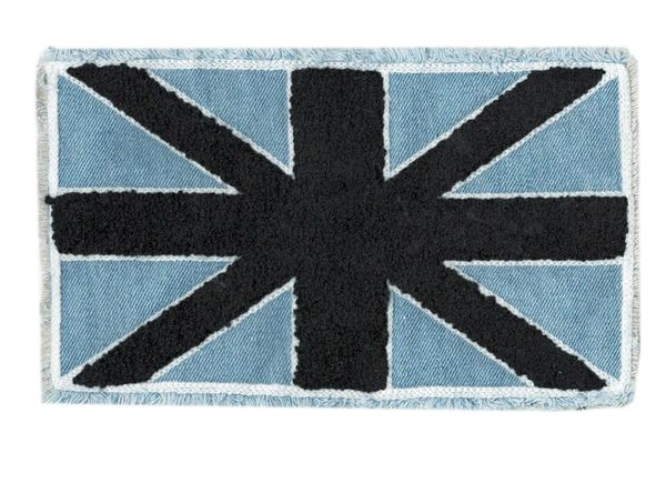 Union Jack Flag Patch Chenille on Denim XXL 23cm