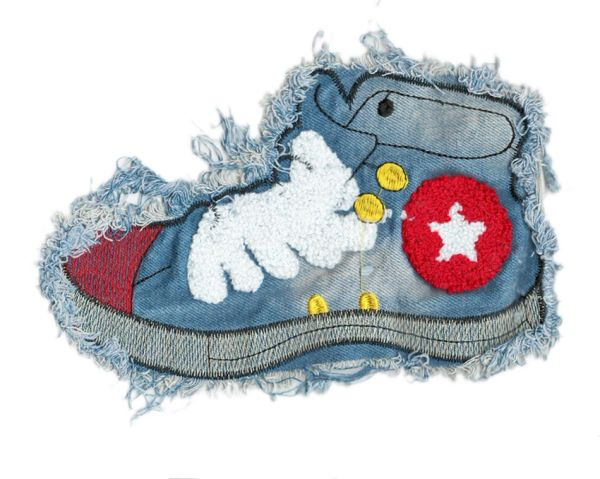 Sneaker Patch Denim XXL 21cm