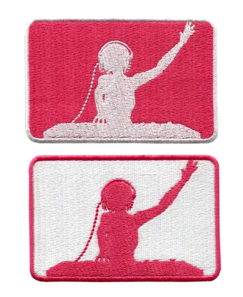 Lady DJ Patch 10cm x 6cm (2 Colors Inside)