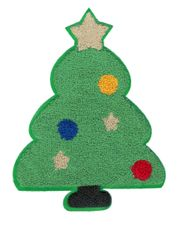 Christmas Tree Chenille Patch XXL 22cm