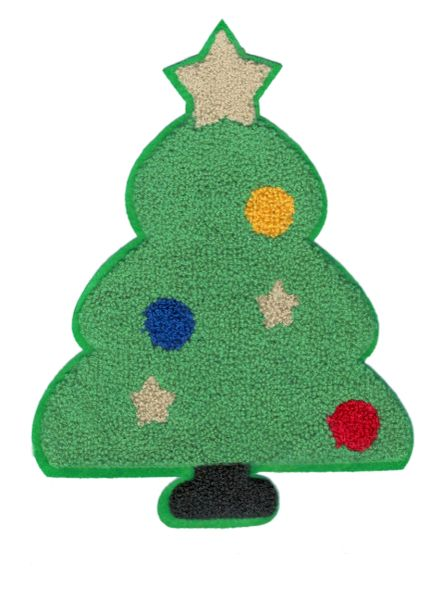 Christmas Tree Chenille Patch XXL 22cm