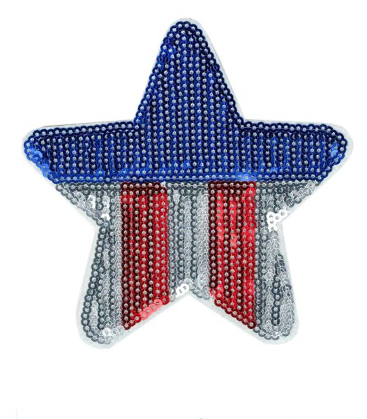 USA Star Patch Sequins 11cm