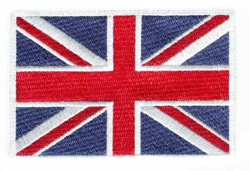British Flag Union Jack Patch 10cm x 7cm (2 Sizes Inside)