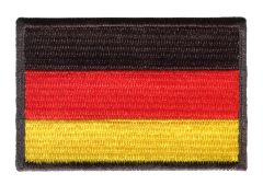 German Flag Patch 7cm x 4.5cm