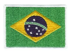 Brazil Flag Patch 7cm x 5cm