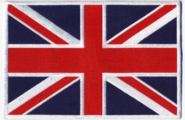 British Flag Union Jack Patch 21.5cm x 14.25cm (2 Sizes Inside)
