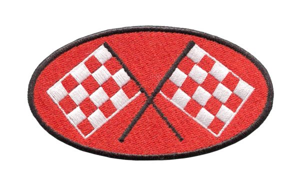 Checkered Flag Racing Patch 10cm