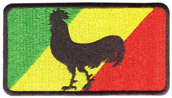 Rasta Cock Chicken Skater Patch 9.5cm x 6.5cm