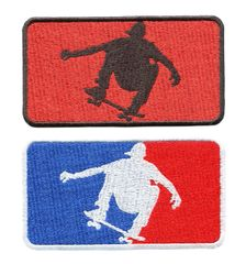 Skater Silhouette Patch 9.5cm.x 5.5cm 3 Colors Available!
