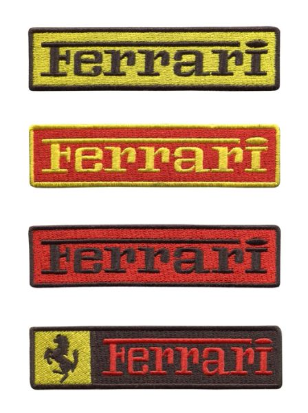 Ferrari Script Patch 11cm (4 Colors Inside)