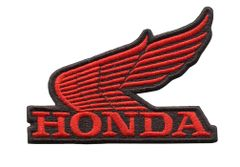 Honda Wing (Red) Vintage Style Motorcycle Patch 10cm x 7cm (3 colors inside)