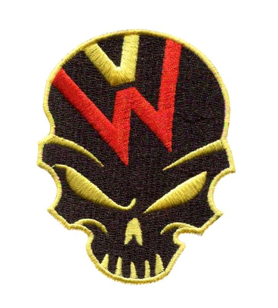 VW Volkswagen Skull Patch German Colors 8.5cm (3 colors available)