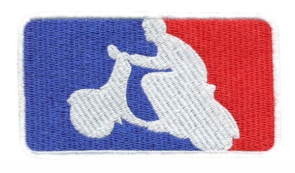 Scooter Scooterboy USA UK French Silhouette Patch 9.5cm x 5.5cm