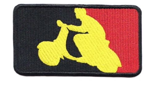 Belgian Begium Scooter Scooterboy Silhouette Patch 9.5cm x 5.5cm