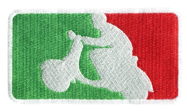 Italian Scooter Scooterboy Silhouette Patch 9.5cm x 5.5cm