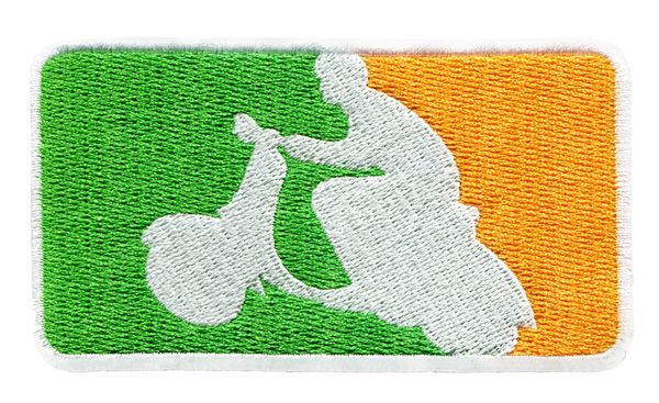 Irish Scooter Scooterboy Silhouette Patch 9.5cm x 5.5cm