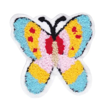 Cute Chenille Butterfly Patch 9.5cm