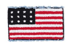 American Flag USA Chenille Patch (21cm x 13cm)