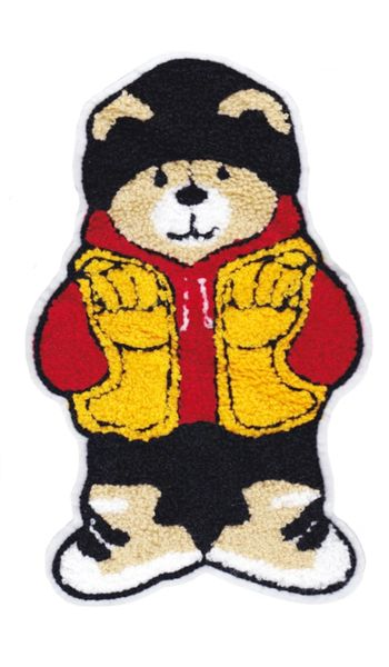 Extra Large Chenille Teddy Bear Patch (24cm)