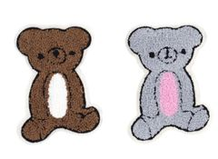 Chenille Teddy Bear Patch 14cm (2 Colors Available)