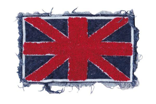 Chenille & Fringe Union Jack British Patch (22cm)