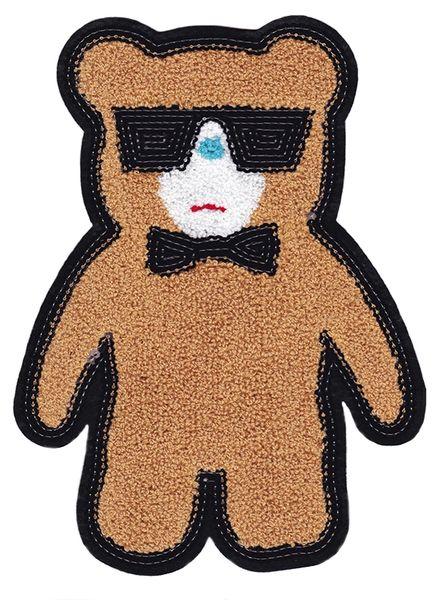 Chenille & Sequins Teddy Bear Patch 26cm