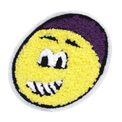 Cool Smiley Face Patch Chenille Smile Patch Badge 10.5cm