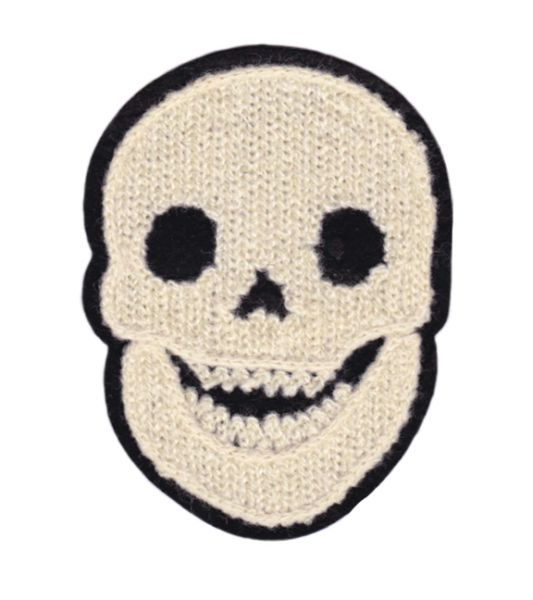 Cool Chenille Skull Patch 10cm