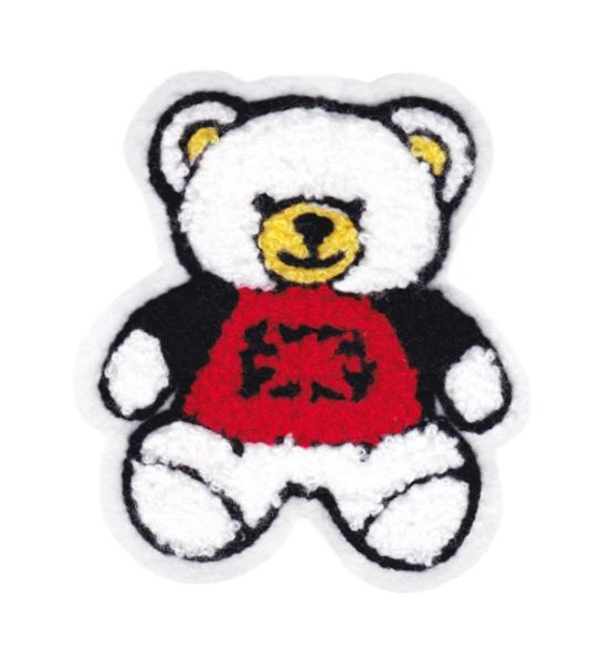 Chenille Teddy Bear Patch 11cm