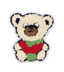 Chenille Teddy Bear Patch 10.5cm