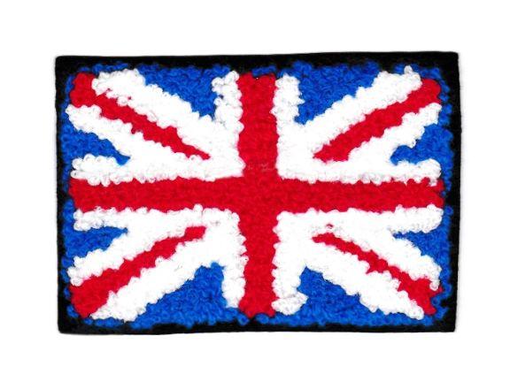 Chenille Union Jack British Flag Patch 9cm