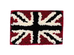Chenille Antique Union Jack British Flag Patch 8cm